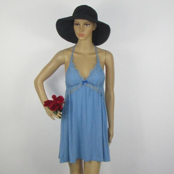 86e0c77b Victoria's Secret Intimates & Sleepwear | Victorias Secret Blue Lacy ...